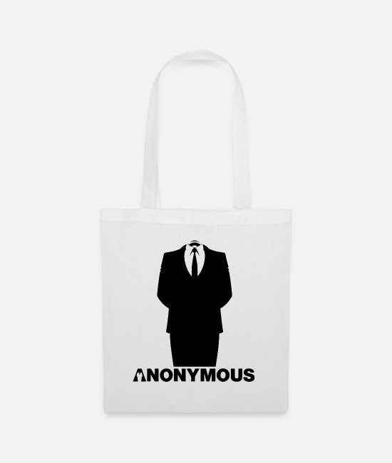 Obey Bags & Backpacks - Anonymous - We Are Legion - Suite Shirt - Tote Bag white