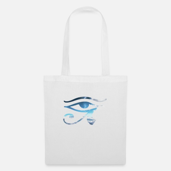 Skies Bags & Backpacks - eye of horus sky - Tote Bag white