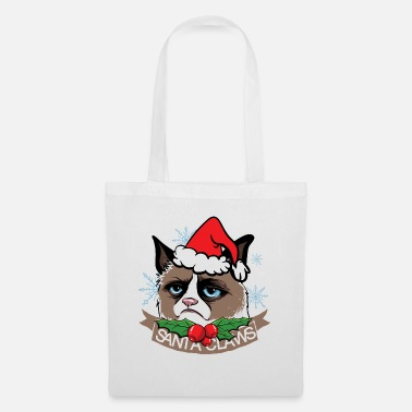 Santa Christmas cat Santa Claws - Tote Bag