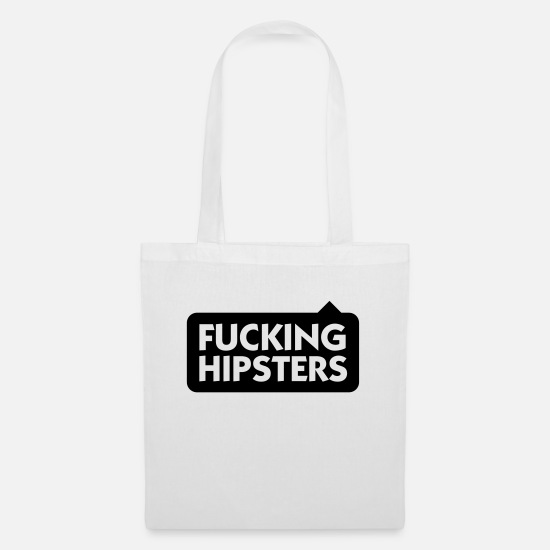 Chic Bags & Backpacks - Fucking Hipsters - Tote Bag white