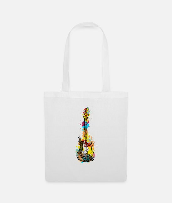 Birthday Bags & Backpacks - E guitar guitarist band gift - Tote Bag white