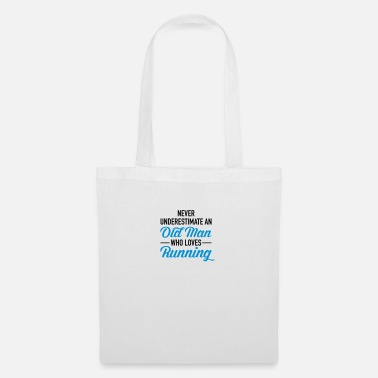 Loves Never Underestimate An Old Man Who Loves Running - Tote Bag