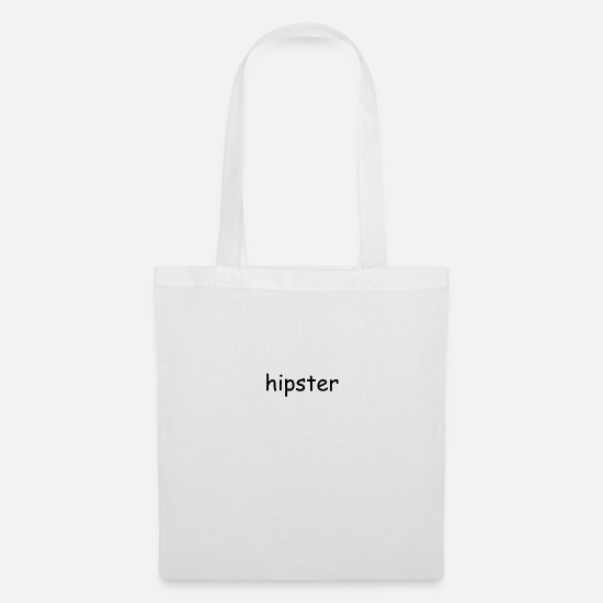 Hipster Bags & Backpacks - hipster - Tote Bag white