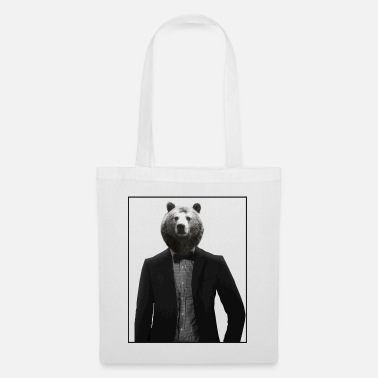 Suit Bear in a suit - Tote Bag