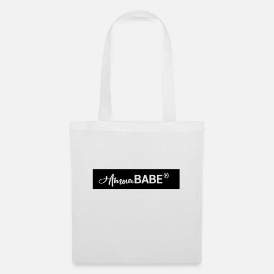 Love Bags & Backpacks - amour babe - Tote Bag white