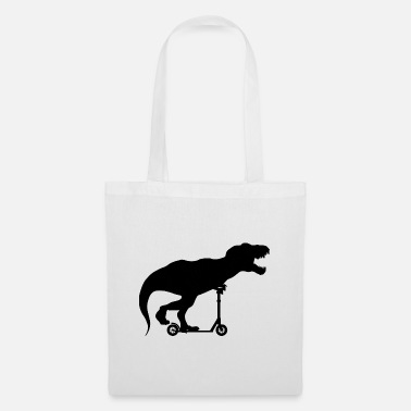 Dinosaur scooter - Tote Bag