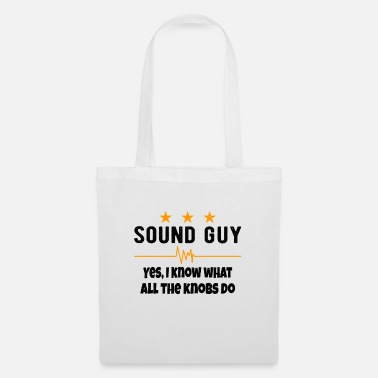 Speakers SOUND GUY / AUDIOLOGIST what all the knobs do - Tote Bag