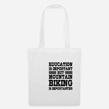 Electro Biking Is Importanter Mountain Bike Gift - Tote Bag