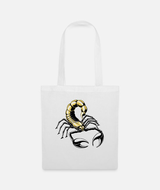 Red Bags & Backpacks - scorpion - gold - yellow - Tote Bag white