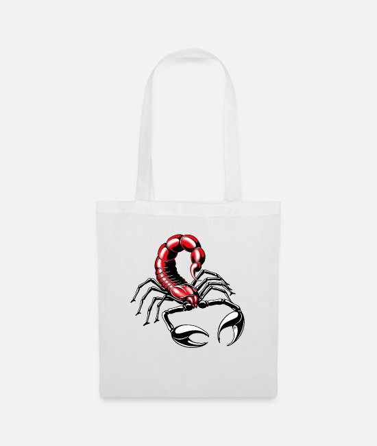 Red Bags & Backpacks - Scorpion - red - Tote Bag white