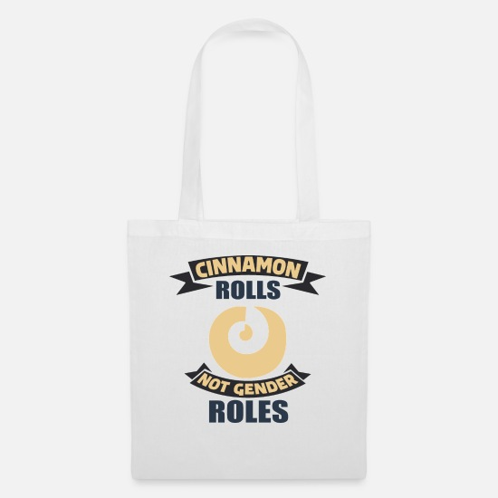 Pastries Bags & Backpacks - Pastry cinnamon snails, cinnamon rolls - Tote Bag white