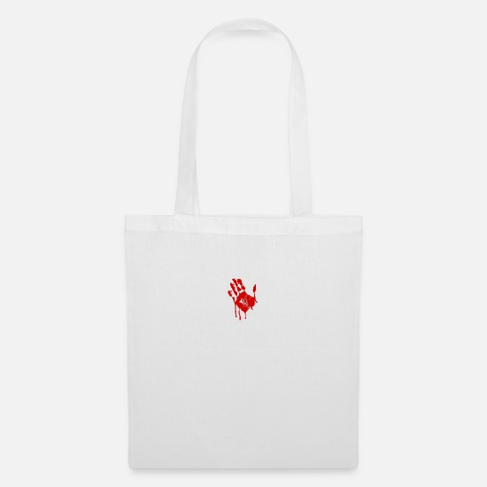 Dialect Bags & Backpacks - Bloody hand - Tote Bag white