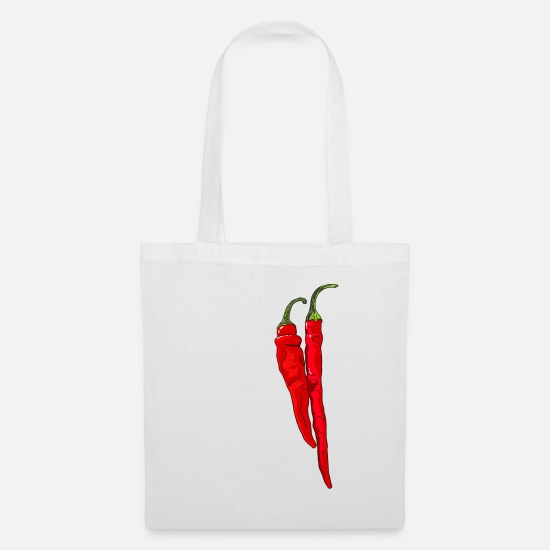 Pepper Bags & Backpacks - Chili Pepper Hot Chilli Peppers Spicy Food - Tote Bag white