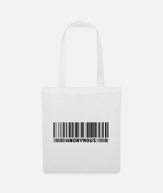 Obey Bags & Backpacks - Anonymous Barcode - We Are Legion - Shirt - Tote Bag white