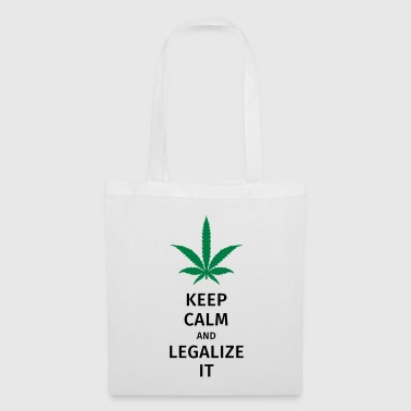 keep calm and legalize it - Torba materiałowa