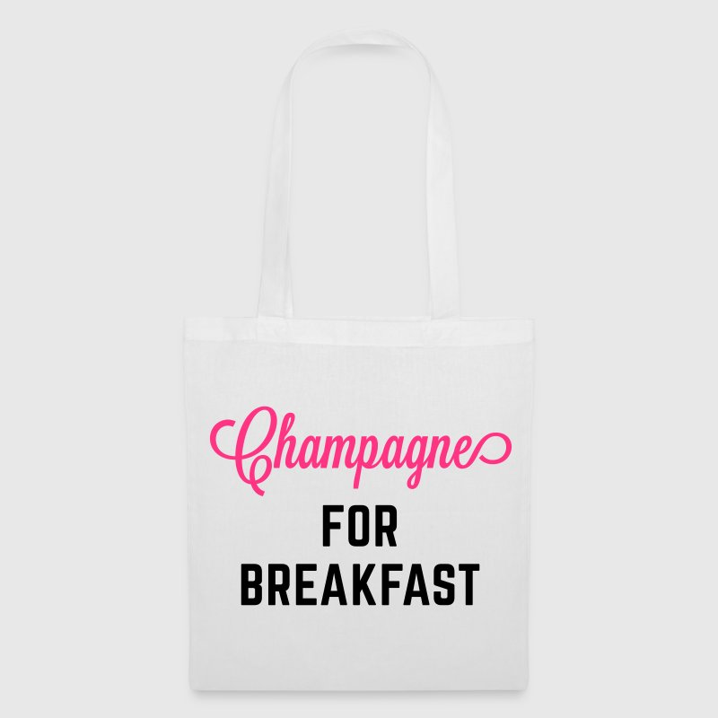 Champagne For Breakfast Funny Quote - Tote Bag