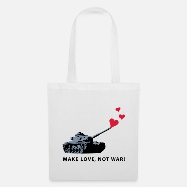 Make Love Not War lovetank_b_3c - Borsa di stoffa