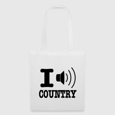 I music country / I love country - Stoffveske