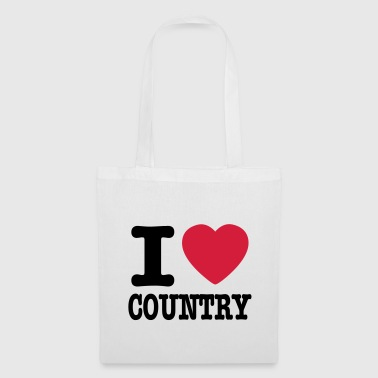i love country / i heart country - Stoffveske