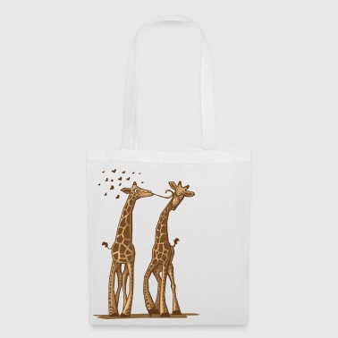 Giraffe One Way Love - Stoffbeutel