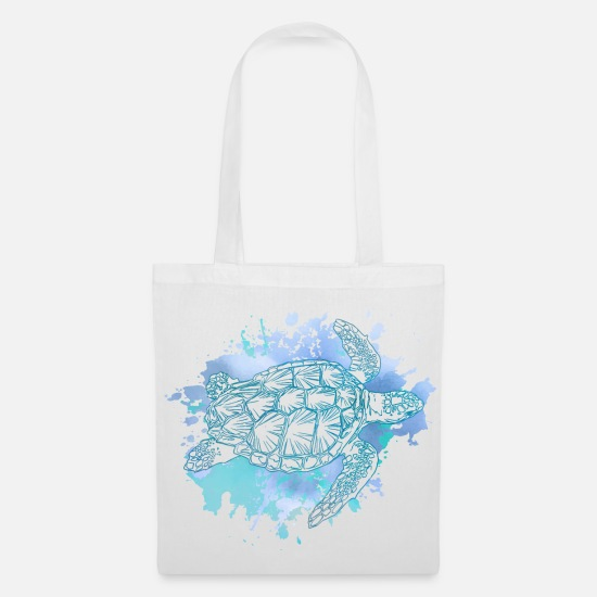 Turtle Bags & Backpacks - Turtle sea turtle sea turtle - Tote Bag white