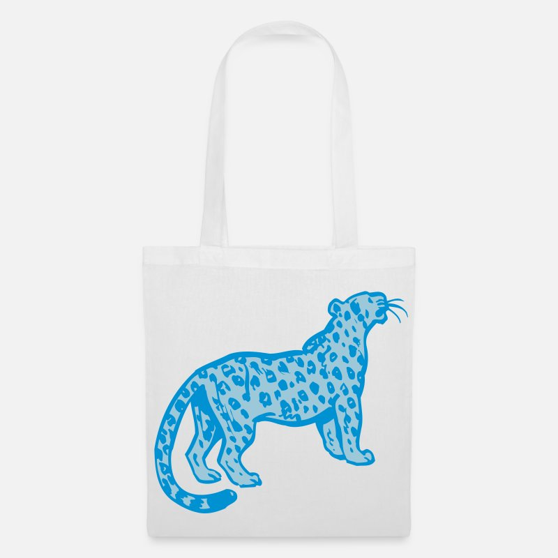 Leopard Bags & Backpacks - Curious Leopard by Cheerful Madness!! - Tote Bag white