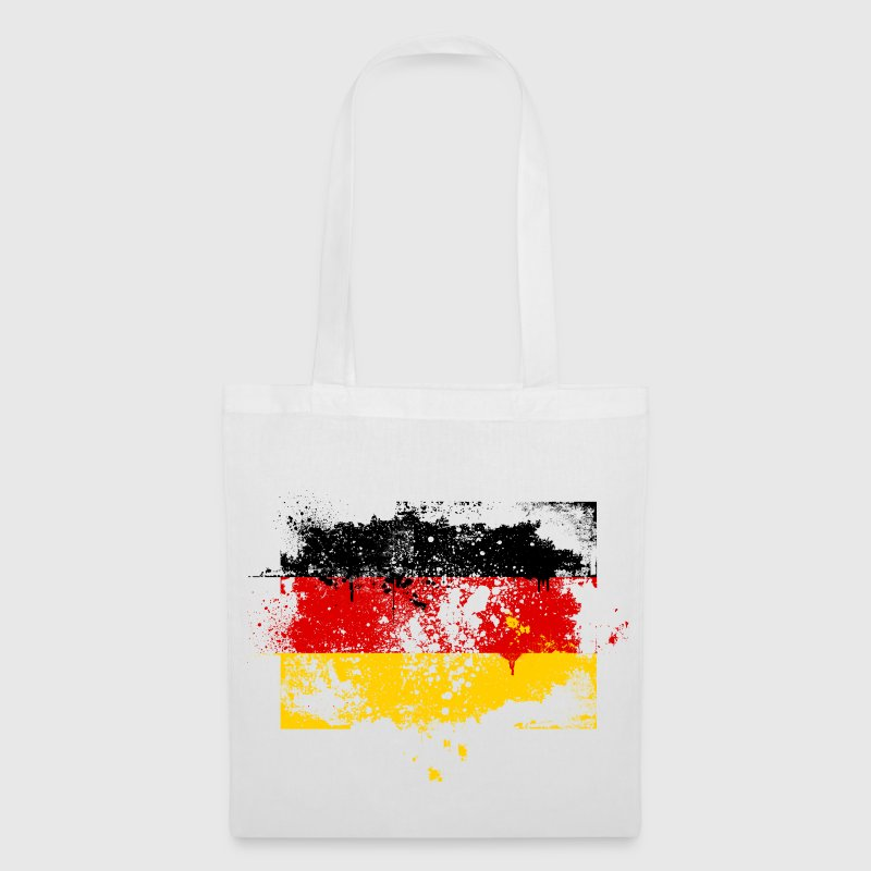 Germany flag banner grunge graffiti style German pride football - Tote Bag