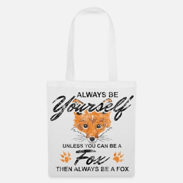 Clever Fox Animal Woodlander Clever Clever Gift - Tas van stof