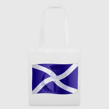 Scottish Scottish Saltire Flag with Celtic Thistle - Tote Bag