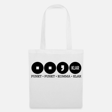 Comma Dot dot comma Clear - Tote Bag
