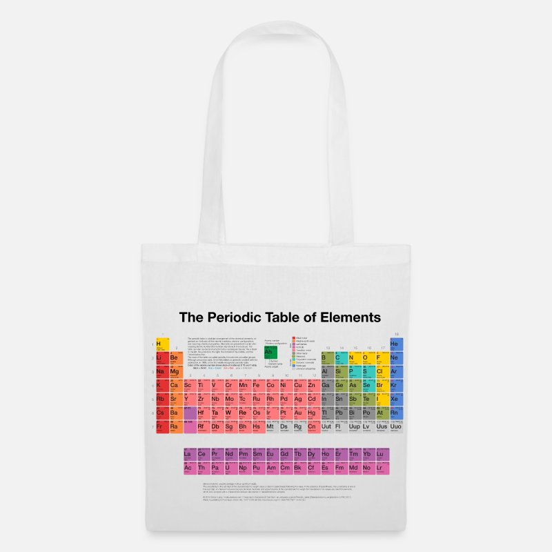 Periodic Table Bags & Backpacks - Periodic Table of Elements (PTE) dark - Tote Bag white