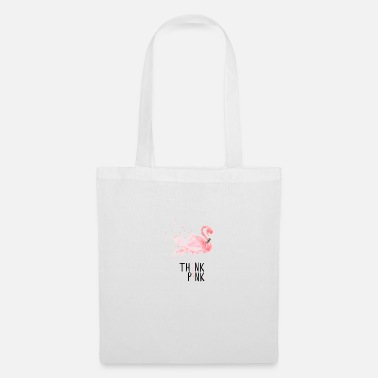 Think Pink Flamingo Tropical Think Pink Gift - Borsa di stoffa