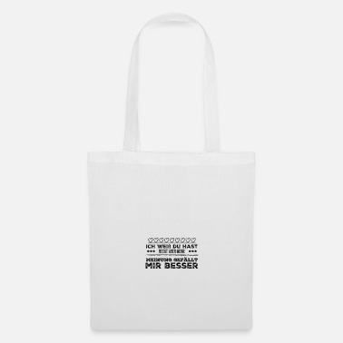 Mot drôle de dire mot blague opinion cadeau - Tote Bag