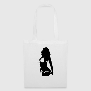 Sexy woman with bikini undresses - Tote Bag