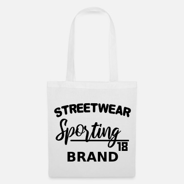 Wear Streetwear Sporting Brand - lettrage noir - Tote Bag