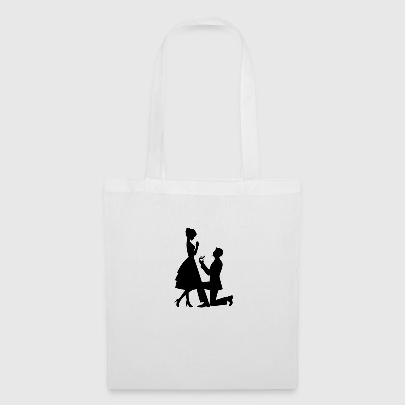 A man makes a marriage proposal - Tote Bag