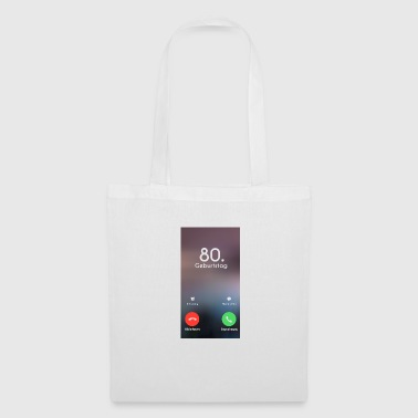 80th Birthday Phone Call Call - Tote Bag