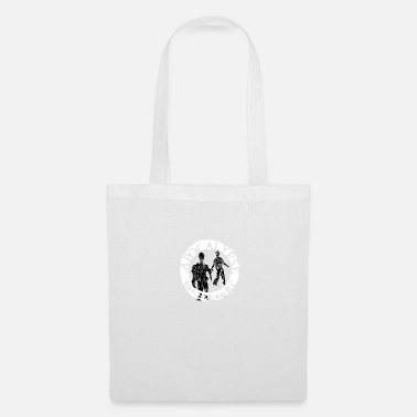 Apocalipsis zombies white black - Bolsa de tela