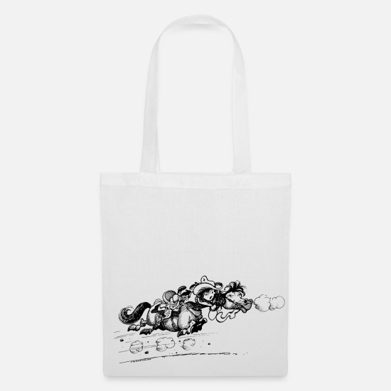 Norman Bags & Backpacks - Thelwell 'Western Pny run away' - Tote Bag white