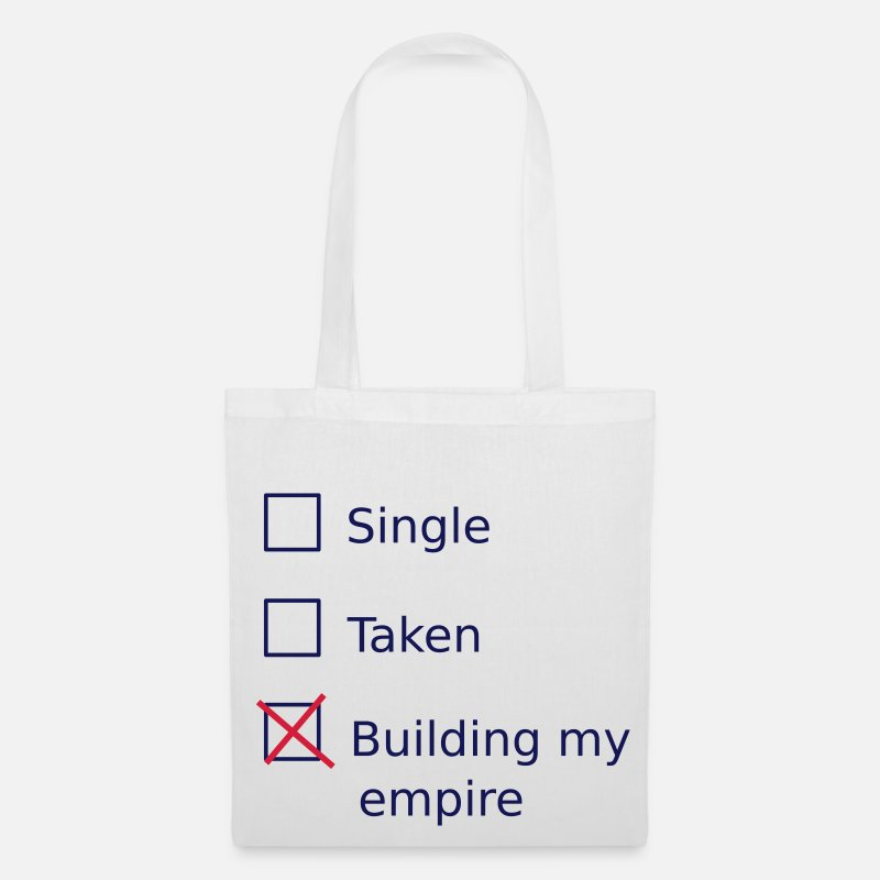 My Borse & Zaini - Single Taken Building my empire - Borsa di stoffa bianco