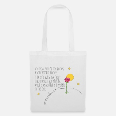 School The Little Prince Quote Heart Sees Rightly - Tote Bag