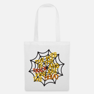Web WEB - spider web, Halloween design - Tote Bag