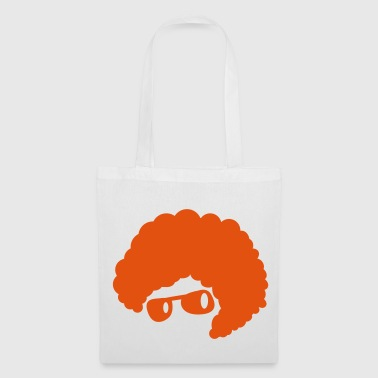 cool orange afro hair style 70's sunglasses  - Tote Bag