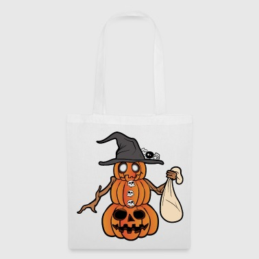Horreur de monstre zombie citrouille halloween - Tote Bag