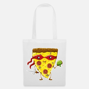 Ninja Pizza eats turtle - Tote Bag