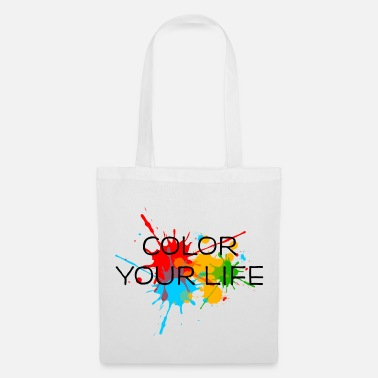 Paint Ink, Paint, Color your life, Splashes, Splatter, - Tote Bag