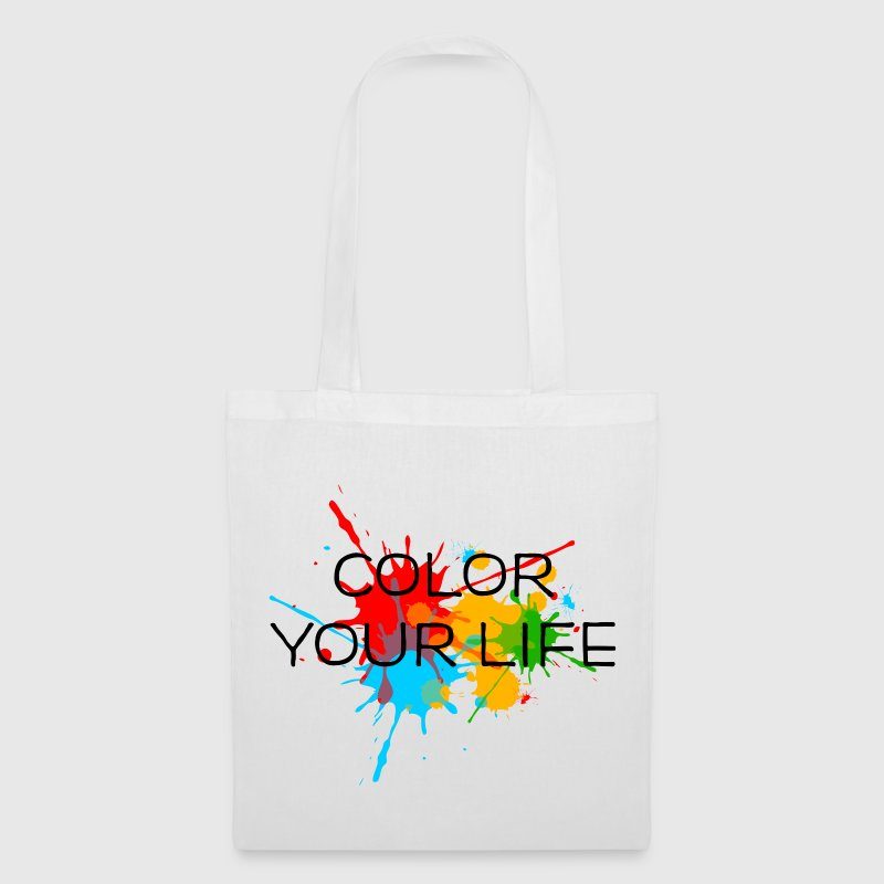 Ink, Paint, Color your life, Splashes, Splatter, - Tote Bag
