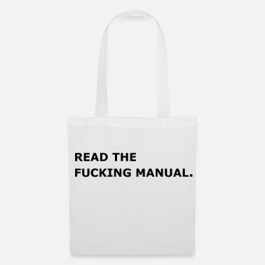 Manual Read the fucking Manual. - Stoffbeutel