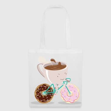Donut Coffee Bicycle - Borsa di stoffa