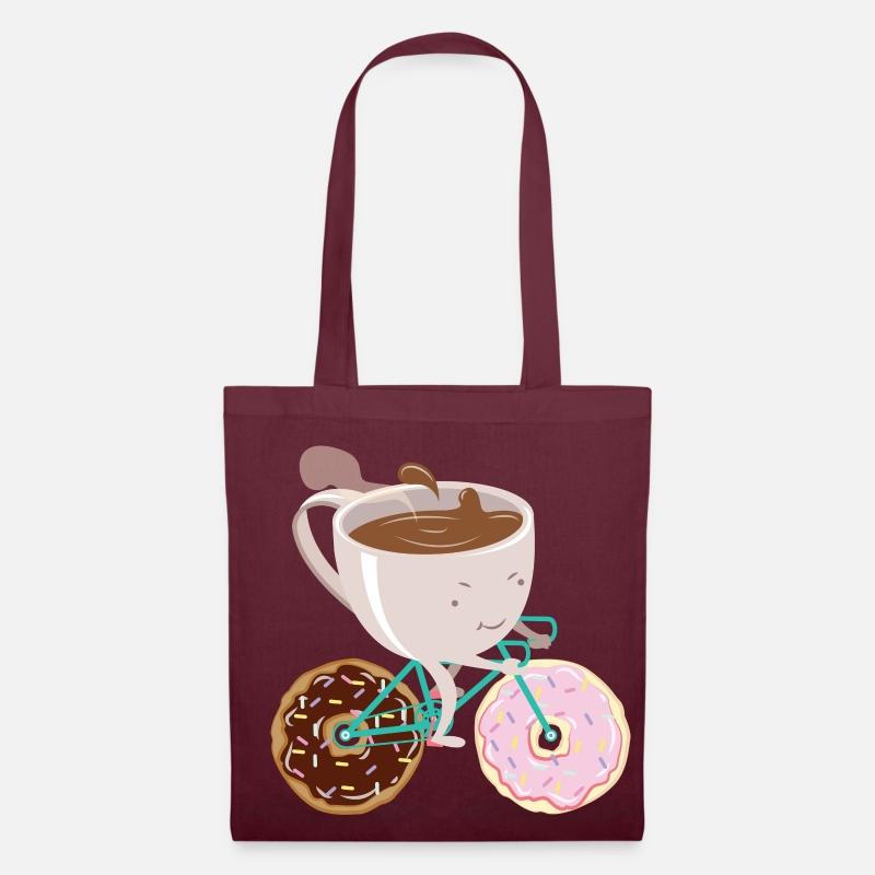 82f2d6fcab7886 Donut Coffee Bicycle Borsa di stoffa   Spreadshirt